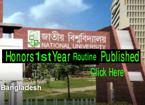 National University Honours 1st Year Exam Routine 2018