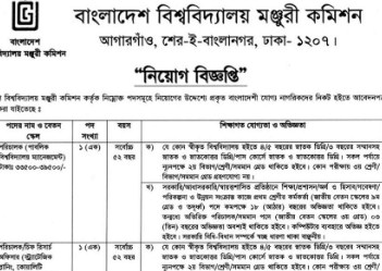 Bangladesh University Grants Commission Jobs Circular 2019