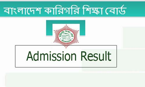 Polytechnic Admission Result 2019