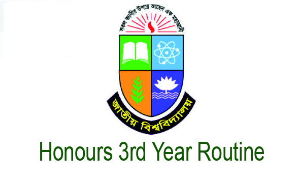 Honours 3rd year routine 2019