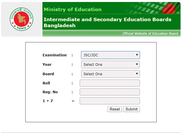 JSC Exam Result : All Board Exam Result Online News